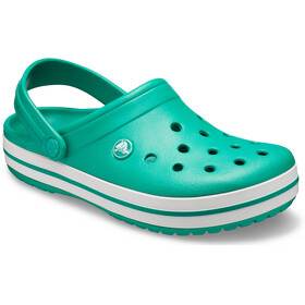 Crocs Crocband Sandaler, deep green/white